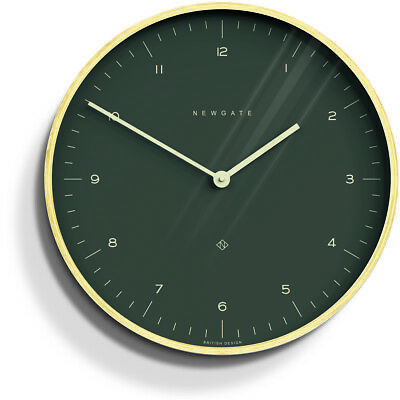 NEWGATE® Clocks Round Wall Clock - Mr Clarke - Wooden Case with Dark Grey Dial