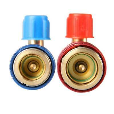 Car Automobile Air Conditioner Coupler Adapter 90°R134A Quick Connector Copper