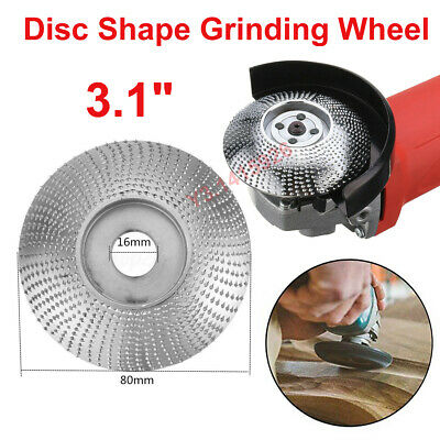 """3.1"""" Grinding Wheel 80x16mm Wood Sanding Carving Shaping Disc For Angle Grinder"""