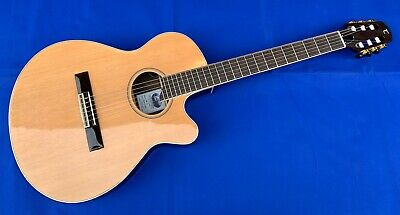 Tanglewood TWC-E1 Electro Acoustic Nylon Guitar Single Cut Tuner And Preamp