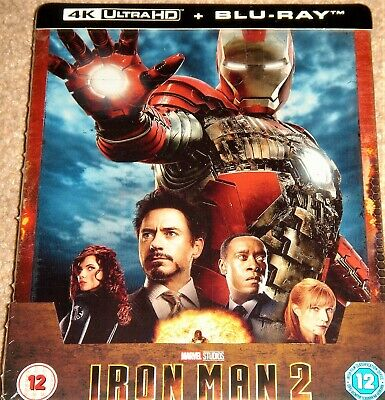 Iron Man 2 Limited Edition Steelbook 4K Ultra HD+Blu Ray / WORLDWIDE SHIPPING