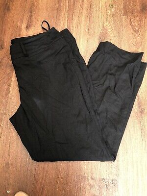 John Lewis Ladies Pencil Black Trouser Uk 18- New With Tags