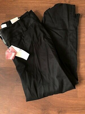 John Lewis Ladies Black Crop Trousers Uk Size 12- New With Tags