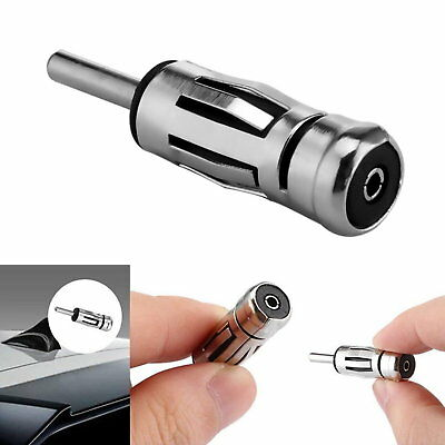 Car Radio Stereo ISO to DIN Aerial Male Antenna Adaptor Adapter Connector Plug