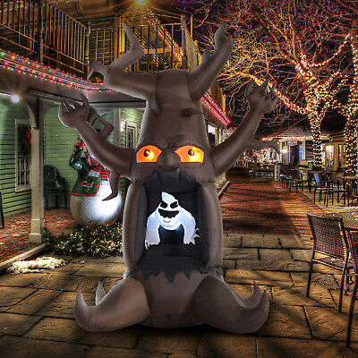 8' Lighted Inflatable Outdoor Halloween Yard Decoration - Scary Ghost Tree
