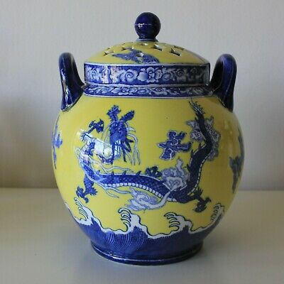 Antique Wedgwood Chinoiserie Pot Pourri Jar, Lid and Cover 1879