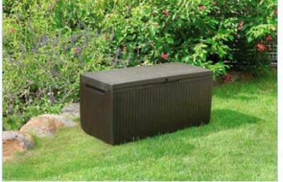 Cool Keter Large Deck Box Storage Bench Outdoor Patio Pool 60 Machost Co Dining Chair Design Ideas Machostcouk