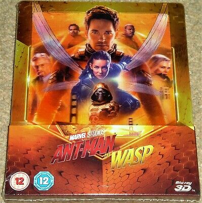 Ant-Man and the Wasp 3D+2D Steelbook /(Lenticular Cover)/ WORLDWIDE SHIPPING