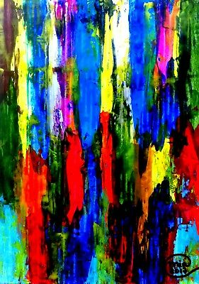 Paintings Modern Art Original Abstract Wall Home Decor Contemporary Free Shipmnt