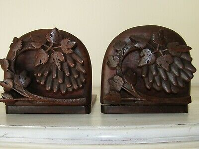 Antique Hand carved Black Forest Wooden Books Stand.
