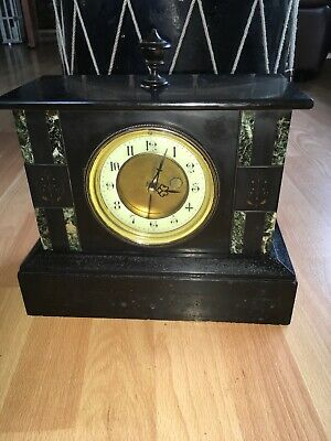 Antique Slate Marble Victorian Edwardian Clock