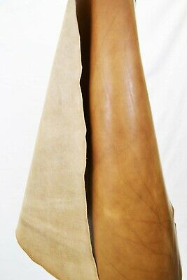 *Blemished Veg Tan, Brown Full Grain Italian Leather Hide 1.2-1.3m2  2.4mm Thick