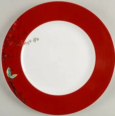 "Lenox Simply Fine Bone China Chirp Scarlet 11"" Dinner Plate (NEW)  New USA"