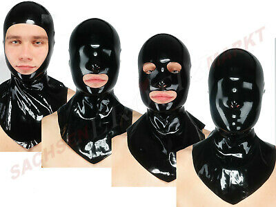 Latex Maske Fetisso Haube Latexmaske Rubber Fetish Erotik Bondage Body Catsuit