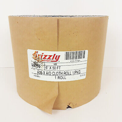 """Grizzly Industrial Cloth Sandpaper Roll 6"""" X 50' A36-X A/O 9114"""