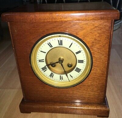 Antique Chiming Mantle Clock With Key French Movement