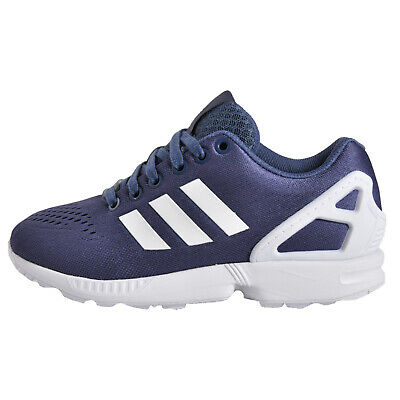 Adidas Originals ZX Flux EM Junior Classic Casual Retro Trainers Grey