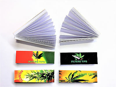 Leaf Printed Filter Tips Roaches Paper Card Rolling Roach Filter Tip 5 Booklets