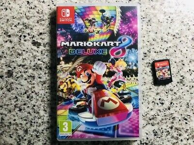 Mario Kart 8 Deluxe Video Game for Nintendo Switch In Case