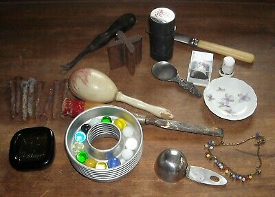 Vintage Junk Drawer Thimbles, Tools, Limoge And Just Stuff