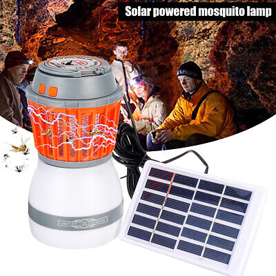 Solar LED Mosquito Killer Fly Bug Insect Zapper Light Trap Lamp Camping Outdoor