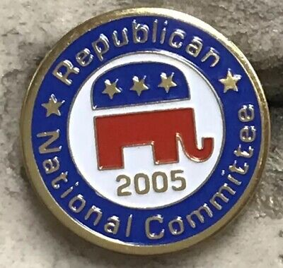 Republican National Committee Pins 2001, 2005, 2003