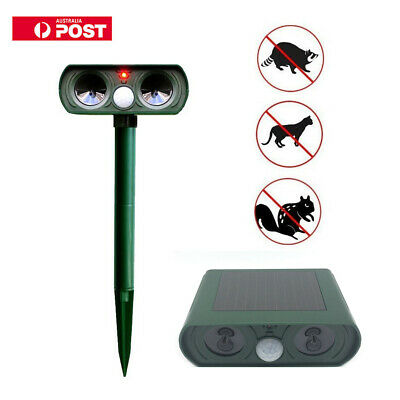 Cat Repellent Scarer Deterrent Ultra Sonic Dog Fox Cat Pest Animal K Solar Power