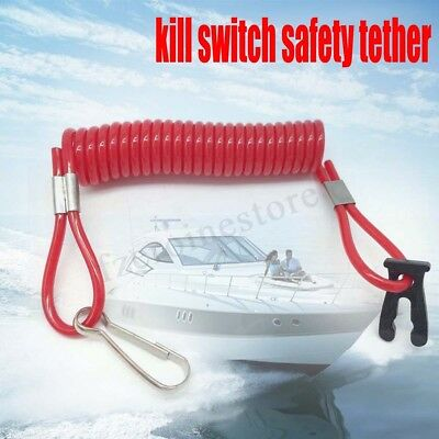 Outboard Engine Motor Tether Cord Lanyard Boat Kill Stop Switch For All Honda