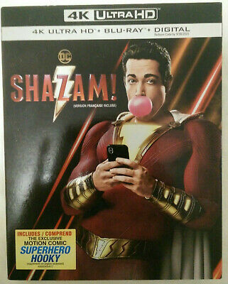 DC Shazam! (4K UltraHD+BluRay+Digital) w/ Slipcover New Sealed