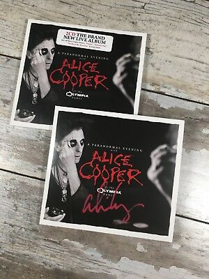 Alice Cooper Paranormal Evening at the Olympia Paris cd signed Autographed Auto