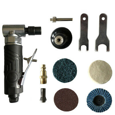 Air Pneumatic Right Angle Die Grinder Polisher Cleaning 1/4'' Cut Off Cutting