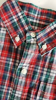 Nwt Janie & Jack Boys Plaid Button Down Shirt Long Sleeves Size 3 Years
