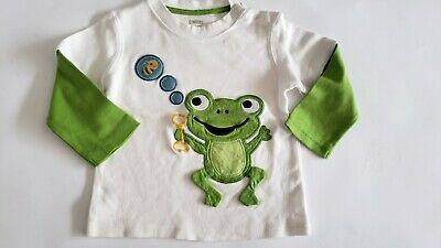 Gymboree Boys Long Sleeve T Shirt W/Frog Blowing Bubbles 18-24 Mos