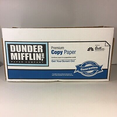 The Office Prop Dunder Mifflin Quill Shipping Collaboration Paper Box (No Paper)
