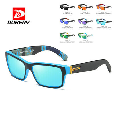 DUBERY Mens Womens Vintage Polarized Sunglasses Driving Sports Eyewear Shades