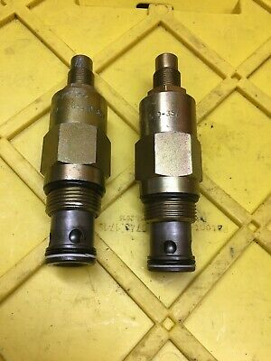 Lot Of 2 Vickers RV3-16-S-0-35 Screw In Pressure Relief Cartridge Valve, Used