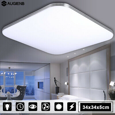 1000LM 16W  LED Ceiling Down Light Flush Mount Wood Square Home Fixture Lamp