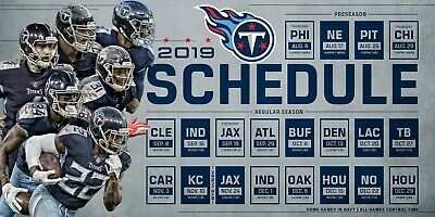 Tennessee Titans Football Schedule 2019 Poster