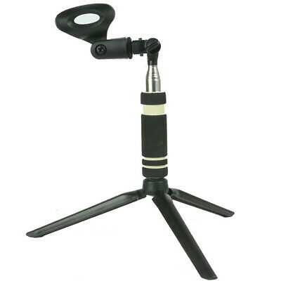 US Table Microphone Mic Tripod Stand Adjustable Black Desktop Clamp Clip Holder