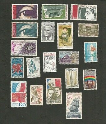 France 1975 Lot De Timbres Obliteres Collection