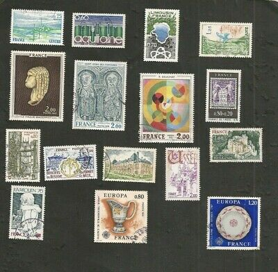 France 1976 Lot De Timbres Obliteres Collection