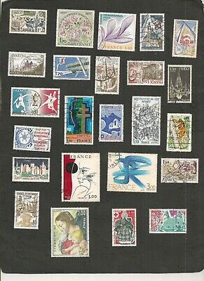 France 1977 Lot De Timbres Obliteres Collection