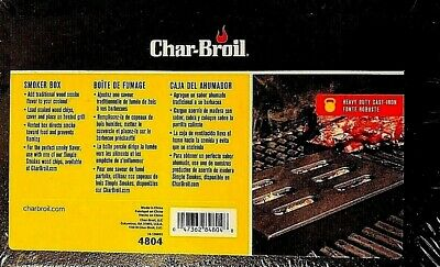 Char Broil Heavy Duty Cast Iron Portable Durable Wood Chip Grilling Smoker Box