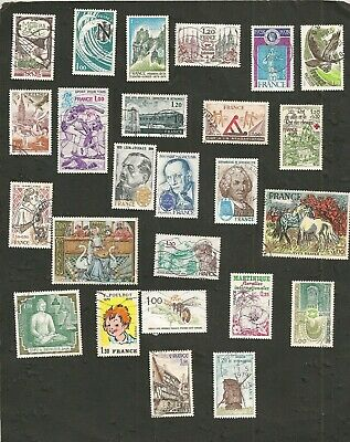 France 1978 Lot De Timbres Obliteres Collection