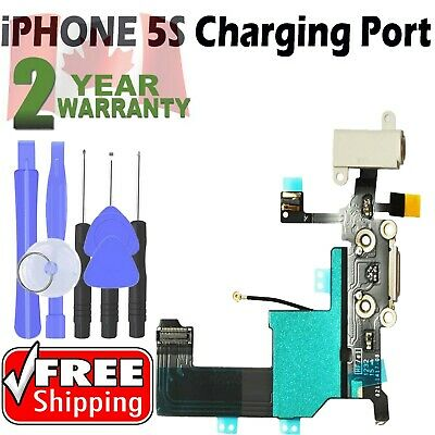 Iphone 5S Charging Port Charger dock flex cable connector plug replacement White