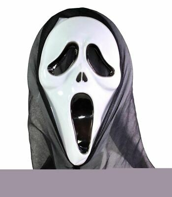 Adults Scream Face Mask Hooded Party Supply Ladies Halloween Party Accessory
