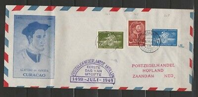 Curacao NVPH 206-08 op FDC cover Willemstad 26-7-1949