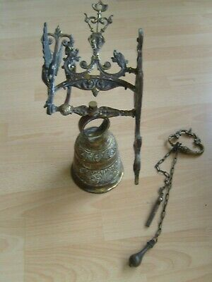 Vintage Antique Style Pull Chain Wall Mounted Solid Brass Doorbell Door Bell