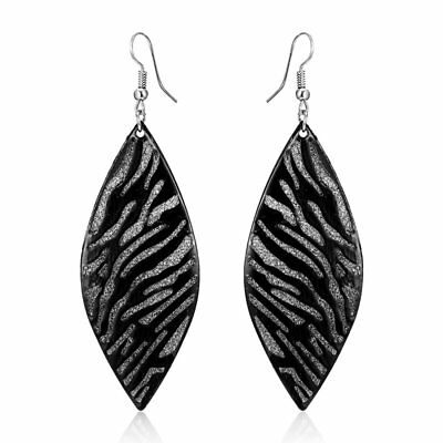 Women Retro Boho Geometric Hollow Leaf Hook Earrings Dangle Jewelry Wedding Gift