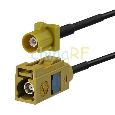 Fakra K Female to Male Antenna Extension Cable RF pigtail 2m for Sirius XM Radio